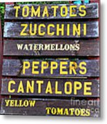 Guaranteed Farm Fresh Foods  Metal Print