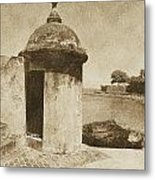 Guard Post Castillo San Felipe Del Morro San Juan Puerto Rico Vintage Metal Print by Shawn O'Brien