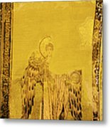 Guardian Angel Byzantine Art Metal Print