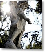 Guardian Angel With Light From Above Metal Print