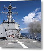 Guided-missile Destroyer Uss Pinckney Metal Print