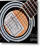 Guitar Abstract 1 Metal Print