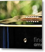 Guitar Abstract 3 Metal Print