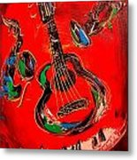 Guitar Jazz Metal Print