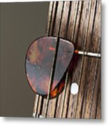 Guitar Neck Frets And Pick Metal Print