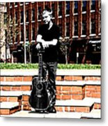 Guitar Reflection Metal Print