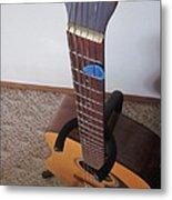 Guitar Slant Metal Print