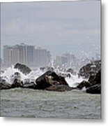 Gulf Of Mexico - More Waves Metal Print