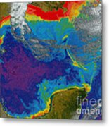 Gulf Of Mexico Dead Zone Metal Print by Science Source