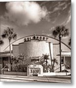 Gulfport Casino In Sepia Metal Print