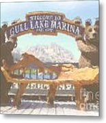 Gull Lake Marina Metal Print