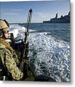 Gunner Mans A .50-caliber Machine Gun Metal Print