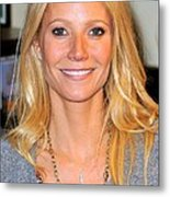 Gwyneth Paltrow At In-store Appearance Metal Print by Everett