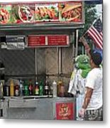 Gyros And The American Flag Metal Print