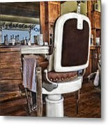 H J Barber Shop Metal Print