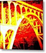 Haceta Head Bridge In Abstract Metal Print