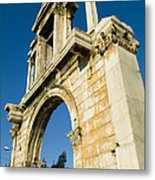 Hadrians Arch In Athens, Greece Metal Print by Richard Nowitz