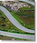 Hairpin Bends In The, Healy Pass, Beara Metal Print