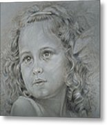 Hairy Girl Metal Print