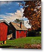Hale Farm In Autumn Metal Print