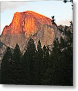 Half Dome Alpenglow Metal Print