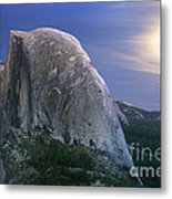 Half Dome Moon Rise Metal Print