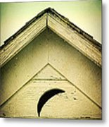 Half Moon On Rurual Outhouse Metal Print