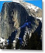 Half Way Half Dome Metal Print
