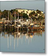 Halifax Boat Dock Metal Print