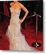 Halle Berry Wearing Marchesa Dress Metal Print by Everett