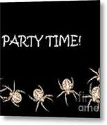 Halloween Greetings. Spider Party Series #01 Metal Print