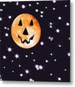 Halloween Night - Moon And Stars Metal Print