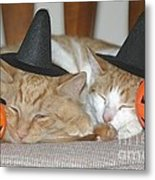 Halloween Party Animals Metal Print
