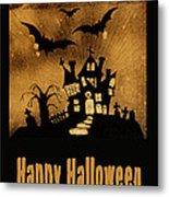 Halloween Quilt Top Metal Print by Nancy Greenland