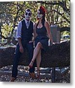 Halloween Romance Metal Print by Cheri Randolph