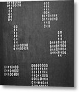 Hamlet - Binary Painting By Marianna Mills Metal Print