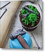 Hammer Cupcake Metal Print