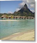 Hammock Island At Bora Bora Metal Print