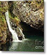 Hana Waterfall Metal Print by Scott Pellegrin