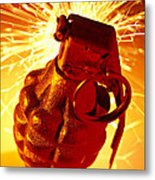 Hand Grenade  Metal Print by Garry Gay