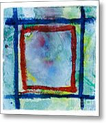 Hand Painted Square Frame   Metal Print