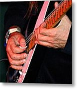 Sun In The Hands And Guitar Of Uli Jon Roth Metal Print