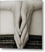 Hands And Jeans Metal Print