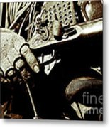 Hands On Rifle Metal Print