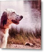 Handsome Hunter. English Setter Metal Print by Jenny Rainbow