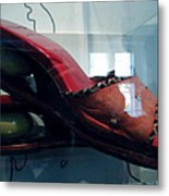 Handsome Shoes With Fresh Eggs In The Middle Plateu Metal Print