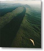 Hang Glider Over Massanutten Mountain Metal Print