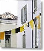 Hanging Clothes Metal Print