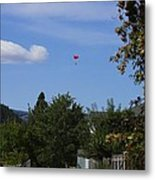 Hanging Out Over Midway Metal Print