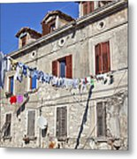 Hanging Out To Dry In Rovinj Metal Print